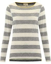Linea Weekend  Stripe Top with Contrast Neck Binding - Lyst
