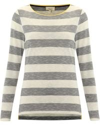 Linea Weekend Ladies Stripe Top with Contrast Neck Binding - Lyst