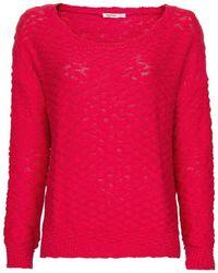 Mango Embossed Polka-Dot Sweater pink - Lyst