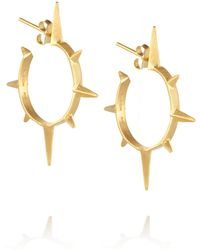 Maria Black Son Goldplated Hoop Earrings - Lyst