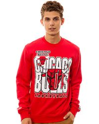 Mitchell & Ness The Chicago Bulls Crewneck Sweatshirt - Lyst