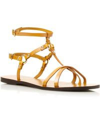 Pied A Terre Leewana Tbar Ankle Strap Sandals - Lyst