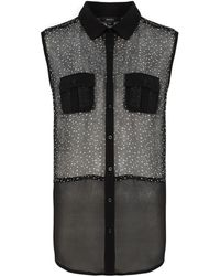 Therapy Spot Sleeveless Blouse - Lyst