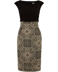 Weekend By Maxmara Nero Short Sleeve Shift Dress with Paisley Print - Lyst