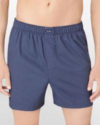 Calvin Klein Woven Solid Boxer Shorts - Lyst