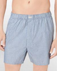 Calvin Klein Woven Stripe Boxer Shorts - Lyst