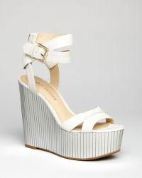 Enzo Angiolini - Platform Wedge Sandals Zamaz Mirrored - Lyst