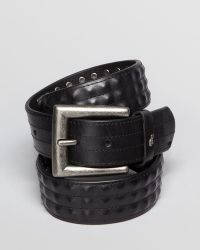 John Varvatos Covered Stud Leather Belt black - Lyst