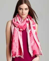 Juicy Couture - Palm Printed Oblong Scarf - Lyst