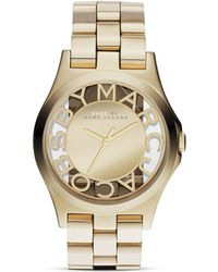 Marc By Marc Jacobs Henry Skeleton Watch, 40Mm gold - Lyst