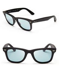 Ray-Ban Polarized Original Wayfarer Sunglasses - Lyst