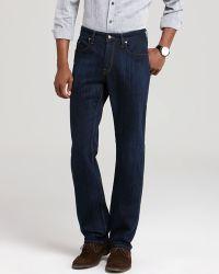 Robert Graham - Jeans Slub Twill Straight Fit in Indigo - Lyst