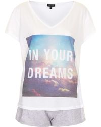 Topshop In Your Dreams Pyjama Set - Lyst