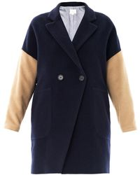 Boy by Band of Outsiders Contrast Sleeve Wool Coat - Lyst