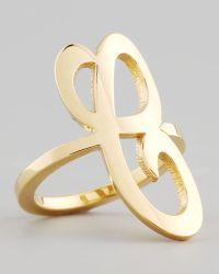 Jennifer Zeuner Gold Single Initial Ring
