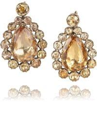 Olivia Collings - 1830S 18-Karat Rose Gold Topaz Earrings - Lyst