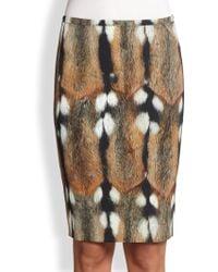 Roberto Cavalli Animal Print Pencil Skirt - Lyst