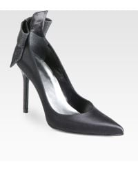 Stuart Weitzman First Prize Satin Bow Pumps - Lyst