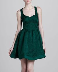 Zac Posen Textured Fit and Flare Dress  - Lyst