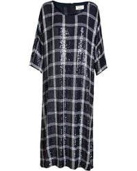Ashish Checked Sequin Sack Dress - Lyst