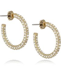 Juicy Couture - Goldplated Cubic Zirconia Hoop Earrings - Lyst