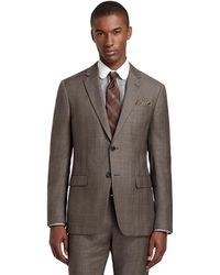Brooks Brothers Milano Fit Brown Plaid with Blue Deco Suit - Lyst