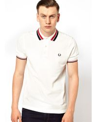 Fred Perry Bold Collar Tipping Polo - Lyst