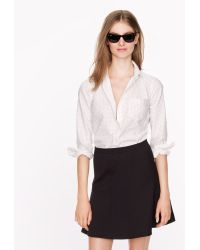 J.Crew Oxford Boy Shirt in Polka Dot - Lyst