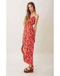 Blu Moon Printed Tulip Maxi Dress - Lyst