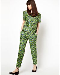 Boutique by Jaeger - Tailored Trouser in Floral Jacquard - Lyst