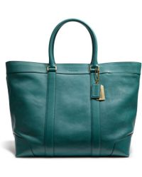Coach Bleecker Legacy Weekend Tote in Leather - Lyst