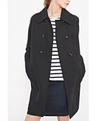 French Connection Audrey Cotton Raglan Coat - Lyst