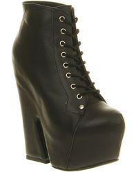 Jeffrey Campbell Frefoe Platform Ankle Boot Black Leather - Lyst