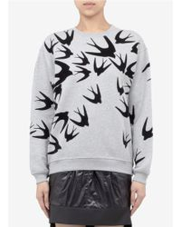 McQ by Alexander McQueen Swallow Bird Appliqué Sweatshirt - Lyst