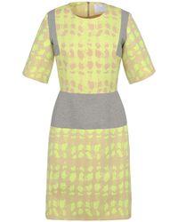 Richard Nicoll Jacquard Short Dress - Lyst