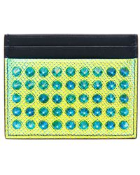 Christian Louboutin Kios Holographic Spiked Leather Wallet - Lyst