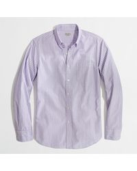 J.Crew Factory Washed Shirt in Endonend Stripe - Lyst