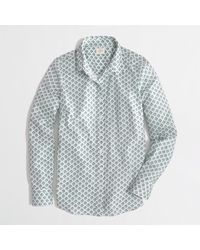 J.Crew Factory Classic Buttondown Shirt in Printed Cotton - Lyst