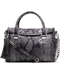 Michael Kors Medium Weston Snakeprint Satchel - Lyst