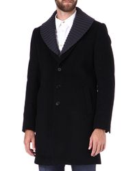 PS by Paul Smith Knitted Collar Coat - Lyst
