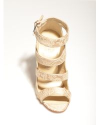 Sophie Gittins - Sibella Sandals in Nude Silk Lace By - Lyst