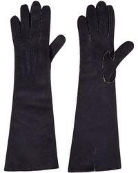 Acne Studios - Navy Allegro Long Shearling Gloves - Lyst