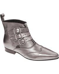Underground Blitz Pewter Winklepicker Ankle Boots - Lyst