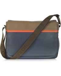 Giorgio Fedon - Life Colour Block Leather Messenger Bag - Lyst