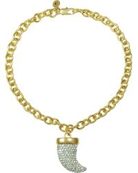 Juicy Couture | Pave Horn Chunky Necklace | Lyst