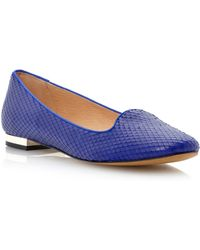 Dune Luckey Slipper Cut Metal Heel Loafer Shoes - Lyst