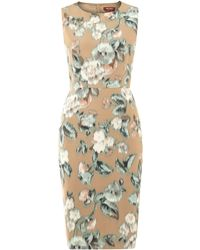 Max Mara Studio Pinne Floral Shift Dress - Lyst