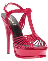 Saint Laurent Strappy Tbar Sandal - Lyst