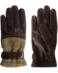 Simon Carter - Dark Brown Harris Tweed Leather Gloves - Lyst