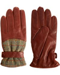 Simon Carter - Light Brown Harris Tweed Leather Gloves - Lyst